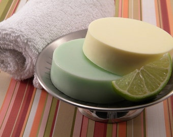 Moisurizing Soap Round 4 oz  Pineapple Lime Fragrance