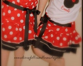 Disney Minnie Mouse Ruffle Skirt for Infant Toddler and Girls Clothing Red White Polka Dot