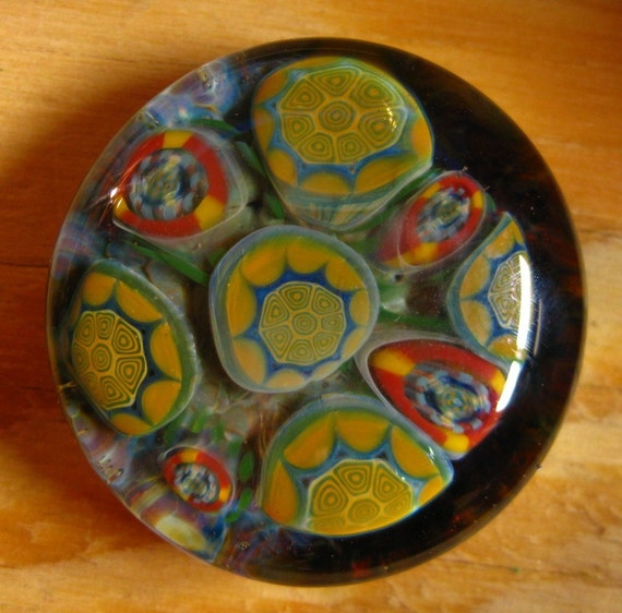 3D Murrine Paperweight or Cabachon