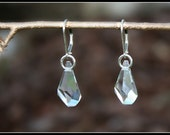 Swarovski Polygon Drop Earrings by Courtney Lee Designs- Crystal Clear with Sterling Silver