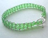 Peridot Swarovski Tennis Bracelet With Silver