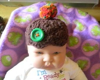 Hand Crochet baby hat boy Free shipping