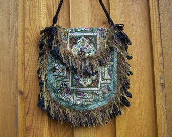 Steampunk Tapestry Sholder Bag free shipping