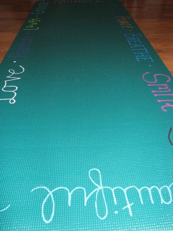 Hand Painted Inspirational Yoga Mat