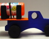 Bubble Truck with Bubbles included, Wooden