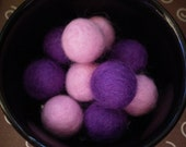Purple & Pink Felted Beads Set of 10