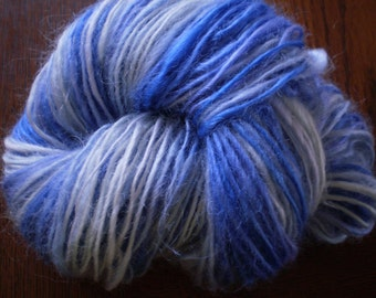 Island Lake Blues - Handspun- 65 yards Wensleydale