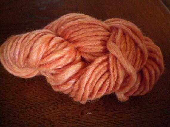 Tangerine Dreams Handspun Yarn - Merino and Silk- 60 yards