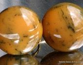 SaLe Estate Bakelite Jewelry Vintage Earrings Marbled Amber Orange Caramel Art Deco Antique Mod Early Century Chunky 1910s 1920s Button SB