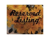 Reserved listing for Mallory
