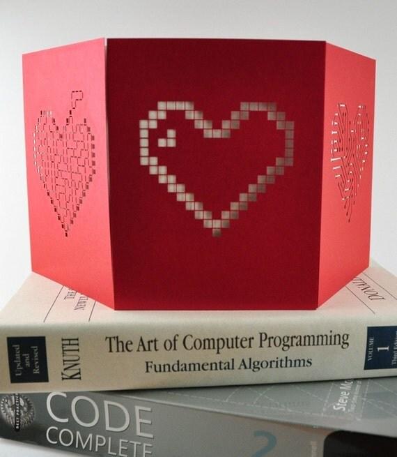 6 Geek Heart Cards