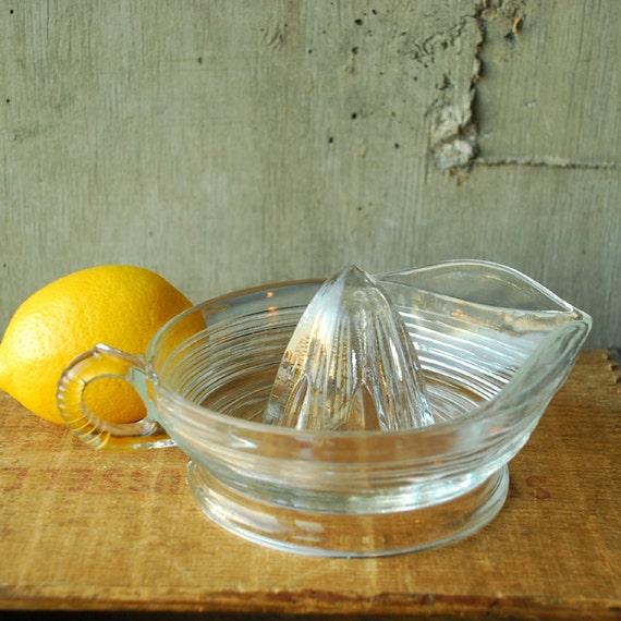 Vintage Glass Juicer Citrus Reamer