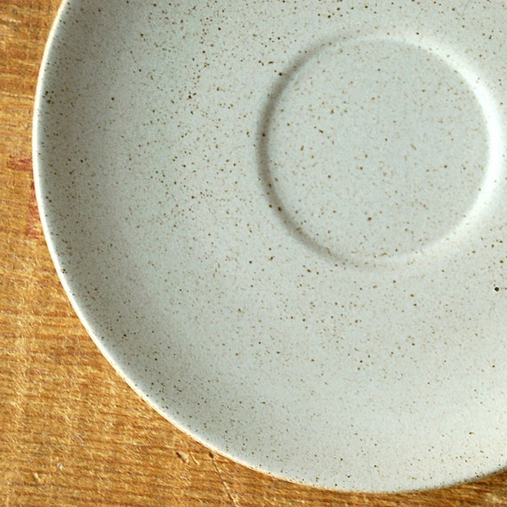 Vintage Heath Coupe Saucer in Pale Grey Heath Ceramics