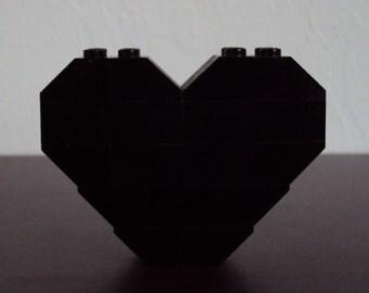 LEGO Heart Pin/Brooch (Black)