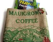 Repurposed Maui Coffee Bag. Colorful, Simple Shoulder Bag. Made to Order. Handmade in Hawaii.