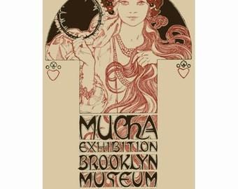 Mucha's Brooklyn Exhibition - Instant Download - Cross Stitch Pattern PDF