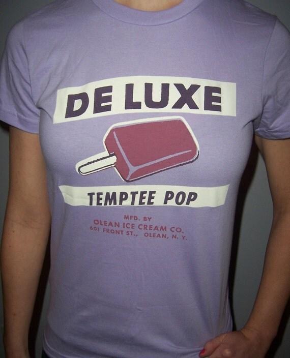 De Luxe Ice Cream vintage design, lavender, radiant orchid shirt (women) small, medium, large, xl