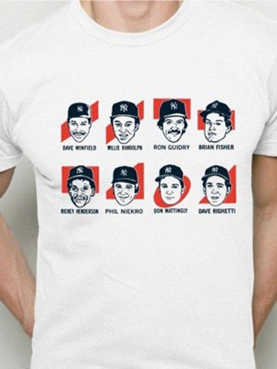 New York Yankees Class of 1985, 1986 shirt, Mattingly Winfield Henderson Guidry, small, medium, large, XL, 2XL
