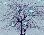 Tree and Bird - Original Illustration Print
