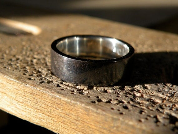 Men's Rugged Silver Band