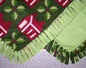 Fleece Blanket - Holiday - Log Cabins