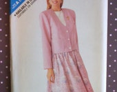 Vintage 1980s Sewing Pattern - Butterick 3082 - Misses' Jacket And Skirt (Size 6-8-10-12-14)