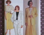 Vintage 1980s Sewing Pattern - Butterick 3695 - Misses' Jacket, Skirt, Pants And Top (Size 14-16-18)