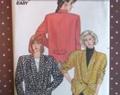 Vintage 1980s Sewing Pattern - Butterick 4248 - Misses' Jacket (Size 12-14-16)