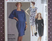 RESERVED ~ Vintage 1980s Sewing Pattern - McCall's 4022 - Misses' Jacket And Dress (Size 10-12-14) - Sewing Supplies