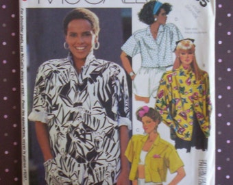 Vintage 1980s Sewing Pattern - McCall's 2455 - Misses' Shirt (Size Large) - Sewing Supplies