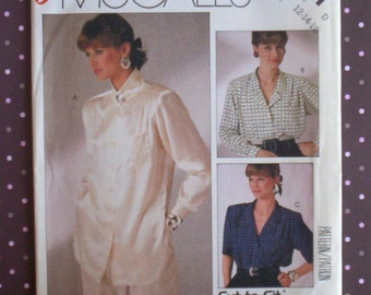 Vintage 1980s Sewing Pattern - McCall's 2721 - Misses' Blouse (Size 12-14-16) - Sewing Supplies