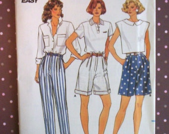 Vintage 1980s Sewing Pattern - Butterick 3898 - Misses' Pants And Shorts (Size 14-16-18) - Sewing Supplies