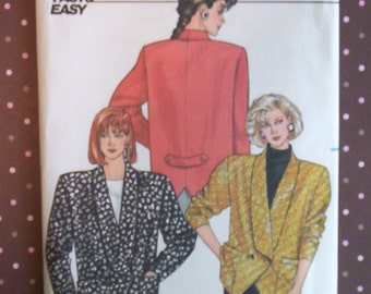 Vintage 1980s Sewing Pattern - Butterick 4248 - Misses' Jacket (Size 12-14-16) - Sewing Supplies