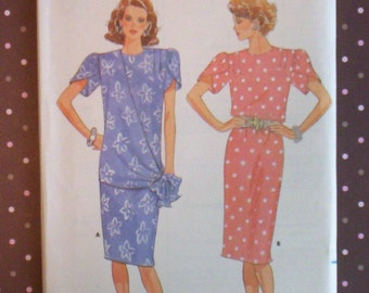 Vintage 1980s Sewing Pattern - Butterick 4630 - Misses' Dress (Size 16) - Sewing Supplies