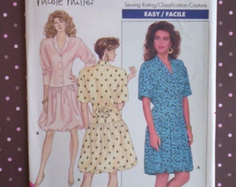Vintage 1980s Sewing Pattern - Butterick 5988 - Misses' Dress (Size 12-14-16) - Sewing Supplies