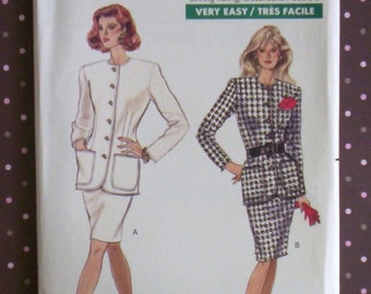 Vintage 1980s Sewing Pattern - Butterick 6540 - Misses' Top And Skirt (Size 12-14-16) - Sewing Supplies