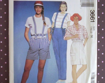 Vintage 1980s Sewing Pattern - McCall's 3661 - Misses' Skirt, Pants And Shorts (Size 14) - Sewing Supplies