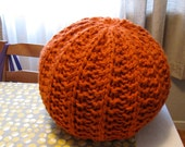 Large knit pouf - soft fill