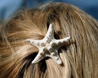 Starfish Hair Barrette Knobby Starfish Hair Clip-Starfish Beach Weddings-Mermaid Hair-Mermaid Costumes-Beach Hair