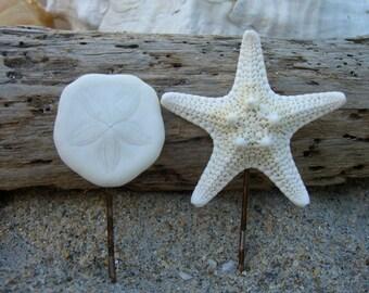 Starfish and Sea Biscuit Bobby Pin Set, Spring Vacations, Beach Weddings, Summer Hair, Mermaids, Beach Bridal Hair Pins