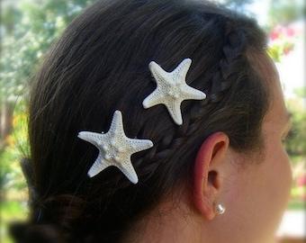 Mermaid Accessory,Starfish Hair Clips,Mermaid Costume,Beach Wedding,Mermaid Birthday,Sea Stars,Beach Hair,Mermaid Style,Starfish Wedding