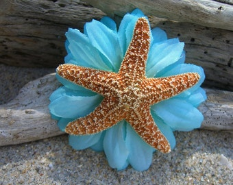 Starfish Hair Clip,Beach Weddings,Starfish Hair,Nautical Wedding,Destination Wedding,Mermaid Costume,Beach Flower Girl,Nautical Hair Clip