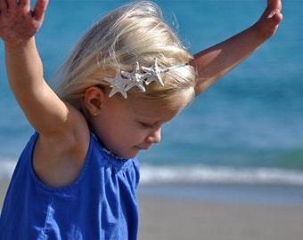 Starfish Headband,Starfish Hair Accessories,Beach Wedding,Mermaid Hair Piece,Beach Bride,Beach Flower Girl,Starfish Hair Piece,Bridal Crown
