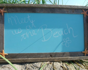 Beach Wedding Sign,Chalkboard Wedding Signs,Bridal Shower Decor,Beach Wedding Decor,Mermaid Party Decor,Framed Chalkboard,Driftwood Frames