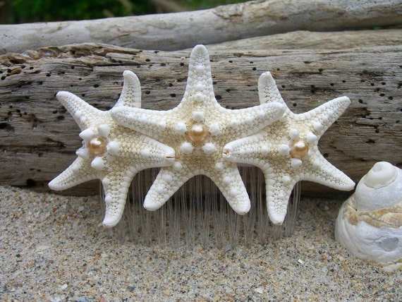 Starfish Hair Comb, Beach Weddings, Nautical Weddings, Beach Bride, Bridal Hair Comb, Mermaid Costume, Mermaid Hair Accessory