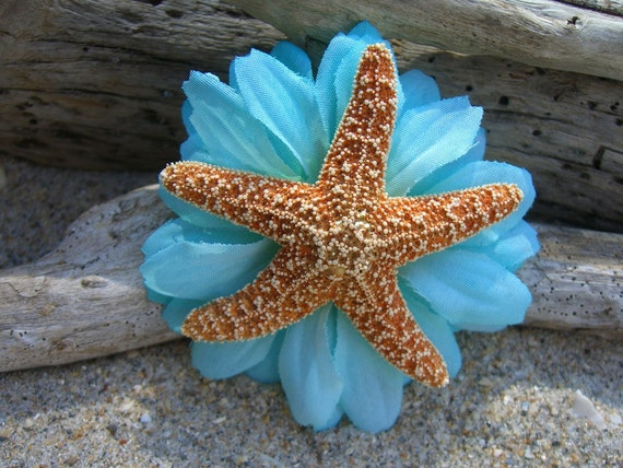 Starfish Hair Clip,Beach Weddings,Starfish Hair,Nautical Wedding,Destination Wedding,Mermaid Costume,Beach Flower Girl,Nautical Hair Clip