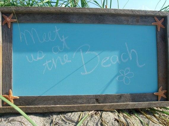 Beach Wedding Sign,Chalkboard Wedding Signs,Bridal Shower Decor,Beach Wedding Decor,Mermaid Party Decor,Framed Chalkboard,Driftwood Frames