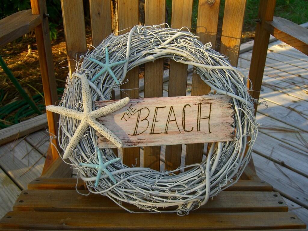 Coastal Decor Shabby Chic: Wreath Beach House Decor Shabby Chic Starfish WreathTHE