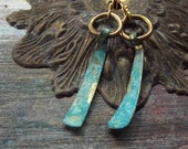 Simple Shapes, Blue and Golden Mini DangleEarrings