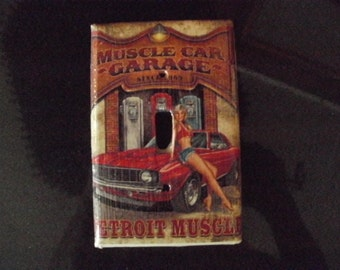 Muscle Car Garage Decorative Switchplate Cover